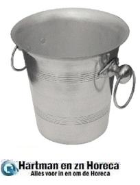 J373 - Champagnekoeler. Hoogglans aluminium