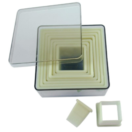 GM372 - De Buyer stekers vierkant glad (set van 9 stuks)