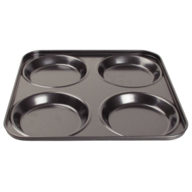 GD012 - Vogue antikleef  20mm diep. 4 yorkshire puddings