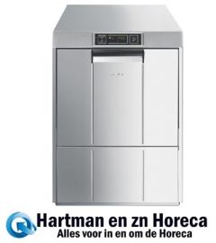 041UD511D - Dubbelwandige en geisoleerde tank Smeg voorlader vaatwasser met drukverhogingspomp en atmosferische boiler (HTR), EASYLINE