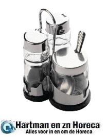 DY414 -Comas menageset voor zout, peper en mosterd