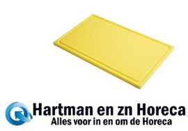 GN321 - Gastro M GN1/2 HDPE snijplank met sapgeul geel