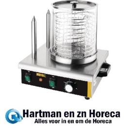 DA565 -Buffalo hotdogwarmer met 2 warmhoudpennen