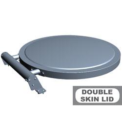 A9/C-DP Optie: deksel kookketels gemaakt met dubbele wand Diamond