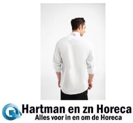 BB264-XS -Chef Works Urban Hartford koksbuis met rits lange mouw wit