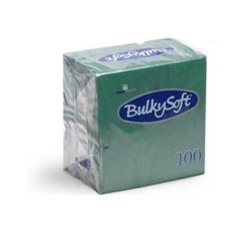 T32086 - Bulkysoft Servetten 2 Laags 40×40 1/4 Vouw 2000 st Groen