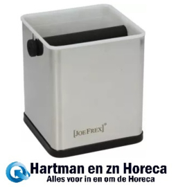 1611480761 - Koffie afklopbak Aluminium Afm : 115x115x130 mm