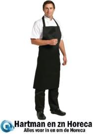 B887 - Whites halterschort polyester/katoen zwart XL
