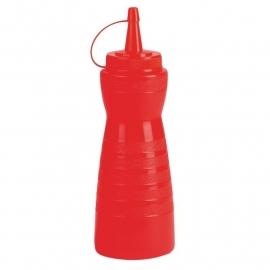 GF251 - Vogue knijpfles met dop 340 ml rood