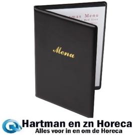 E217 - Menumap A4 voor 2 pagina`s A4 zwart