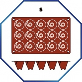 070073 - BAKMAT MEDIUM VULCANO 1/3 GN in blister-verpakking ROND 52 MM / HOOG 44 MM
