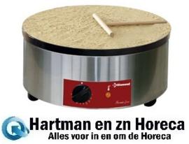 """BRET/1E-HR -  Elektrische pannenkoekplaat hoog rendement, Ø 400 mm """"geëmailleerd"""" DIAMOND"""