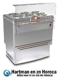 46543690300 - DOLCE VITA 10-LX  CONSUMPTIE-IJS VITRINE statische koeling, rechthoekige beglazing, zonder voorraadvak NORDCAP