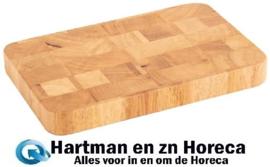 C461 - Vogue rechthoekige rubberhouten snijplank 15 x 23 cm