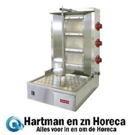 KEB-G61 - Gyros - Shoarma - Doner grill gas 35 kg DIAMOND