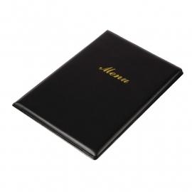 E219 - Menumap voor 2 pagina`s A5 zwart