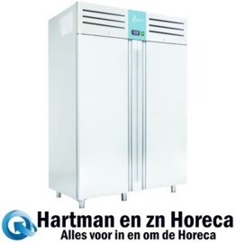 HECPG1502BT - Vrieskast RVS Greenline 1400 liter -18/-22ºC TOPCOLD