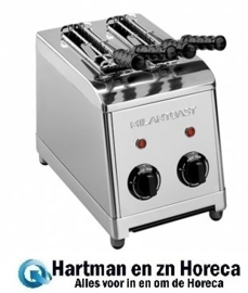 420002 - Milan-Toast tosti-apparaat RVS 2 delig
