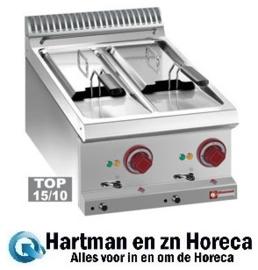 E7/F2V64T - Elektrische friteuse 2 kuipen van 6 liter -Top- DIAMOND Optima 700