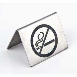 U044 - RVS tafelbordje Niet Roken