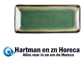 HC530 - Olympia Nomi rechthoekige tapasborden groen-zwart 24,5 x 12cm
