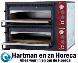 EFP/44R-M - Elektrische oven 2x 4 pizza's, 2 kamers DIAMOND