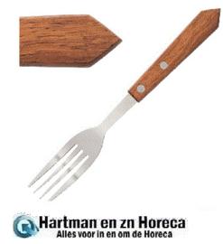 C137 - Steakvork hout heft  -  Prijs en verpakking per 12 stuks
