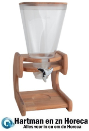 145165 - Muesli Dispenser houten standaard  5,5 Liter