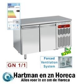 TG2N/H-R2 - Koelwerkbank geventileerd, 2 deuren GN 1/1 DIAMOND