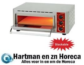 PIZZA-QUICK/43 -Elektrische oven pizza, kamer (3 kW), 430x430xh100 mm DIAMOND