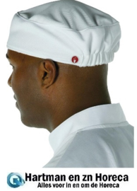 A977 -Chef Works Total Vent beanie unisex wit