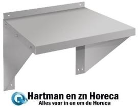 CB912 - Vogue RVS oven/magnetron wandplank 56 x 56 cm