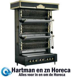 FF36 - VLAMMENWAND Rotisserie KIPPENGRILL 6 spiesen MEDIUM UBERT