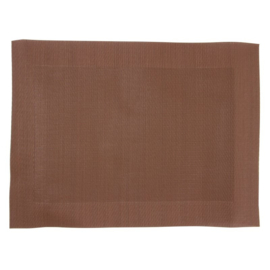 GG044 - PVC geweven placemats bruin 30(H) x 30 cm