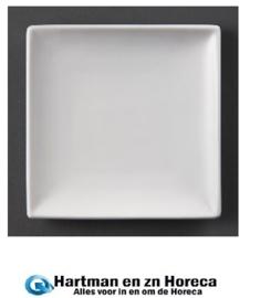U154 - Olympia vierkant bord Wit 18 cm. Prijs per 12 stuks.