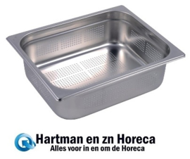 GR730 -  Gastro M geperforeerde RVS GN 1/2 bak 100mm