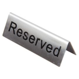 U051 - RVS tafelbordje RESERVED per 10 stuks
