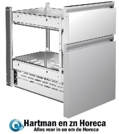 NOR402881079 - Shuifladeset 2 X 1/2 lade voor koelwerkbank ALPENINOX