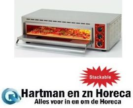 PIZZA-QUICK/66-43 - Elektrische pizza-oven, kamer (2+3 kW) 660x430xh100 mm DIAMOND