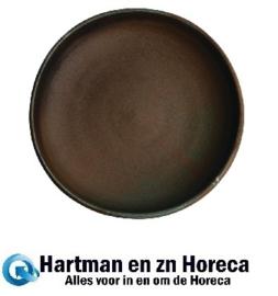 FA327 -Olympia Canvas diepe coupe borden donkergroen 23cm -6stuks