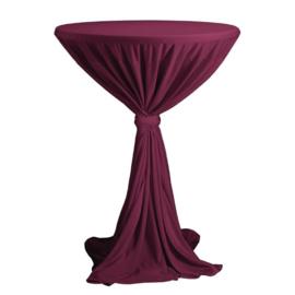 H344 - Sta tafelrok Party bordeaux diameter tot 120 cm