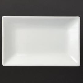 CC893 - Olympia  rechthoekige serveerschaal Wit 20 x 13 cm