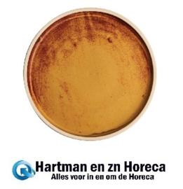 FA308 -Olympia Canvas platte ronde borden roestoranje 25cm