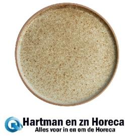 FA336 -Olympia Canvas platte ronde borden crème 25cm