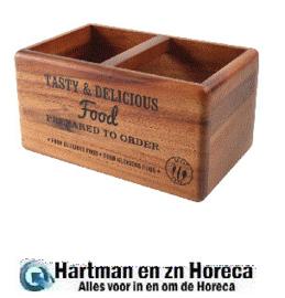 CL179 - T&G Woodware tafelorganiser met krijtbord 14(h) x 17(b) x 27(d)cm