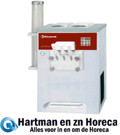 DST/2-15AG - Soft ice-cream machine, 2 smaken + 1 mengsel, 13,5 Kg/u, luchtcondensor DIAMOND