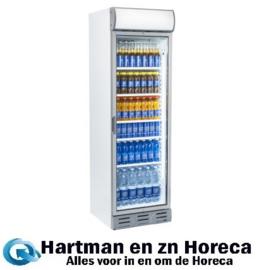 SC381 - Gekoelde vitrine koelkast met glazendeur 380 Liter plus display TOPCOLD