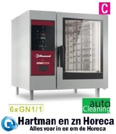 SDE/XC-06 - Combisteamer elektrische oven 6x GN 1/1+Cleaning DIAMOND