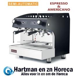 COMPACT/2PB - Espresso apparaat 2 groepen, half-automatisch - ZWART DIAMOND