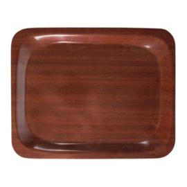U414 - Dienblad mahonie 26,5 x32,5 cm
